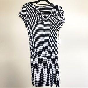 Calvin Klein Blue/White Dress New W/Tags